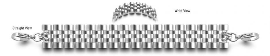 Designer Stainless Medical ID Bracelet Nidi 0855