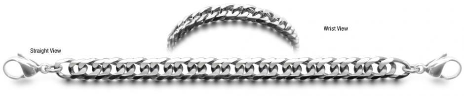 Strada 0858 Designer Stainless Medical ID Bracelets