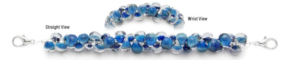 Designer Bead Medical Bracelets Blue Hues 2050