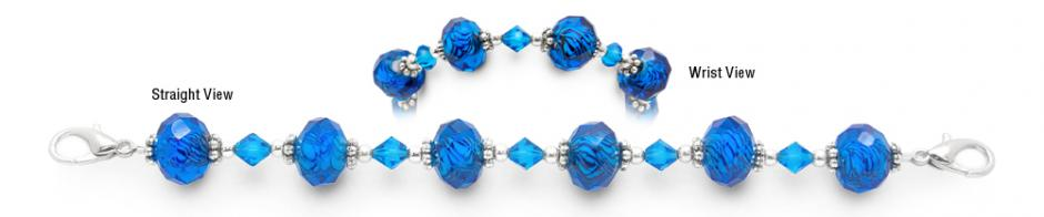 Designer Bead Medical Bracelets Blue Moon 0869