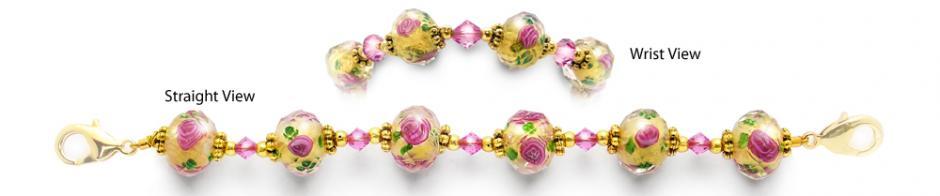 Designer Bead Medical Bracelets Hope Springs Pink 0881