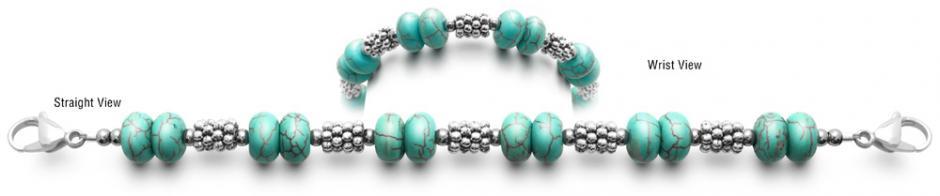 Designer Bead Medical Bracelets Turquoise Blues 0884