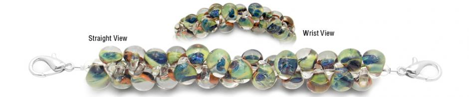 Designer Bead Medical Bracelets Green Seas 2052