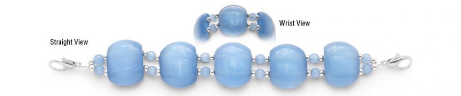 Designer Bead Medical Bracelets Baby Blue 0951