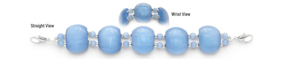 Designer Bead Medical Bracelets Baby Blue 0951