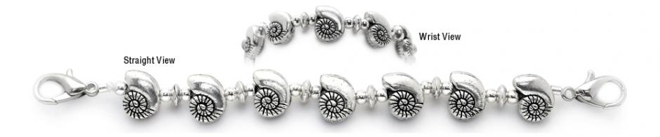 Designer Bead Medical Bracelets Moon Shells 0970