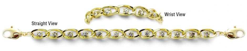 Designer Gold Tennis Medical Bracelets Belli Diamonti Oro 0987