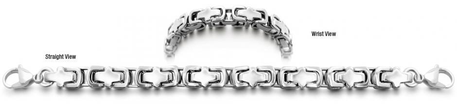 Stainless Medical ID Bracelets Torino 0996