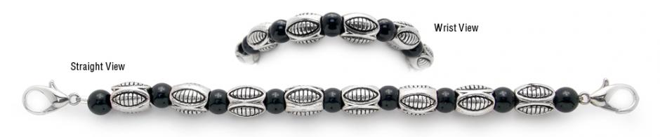 Designer Bead Medical Bracelets Heavy Metal 1026
