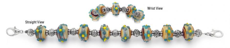 Designer Bead Medical Bracelets Bluestars 1077