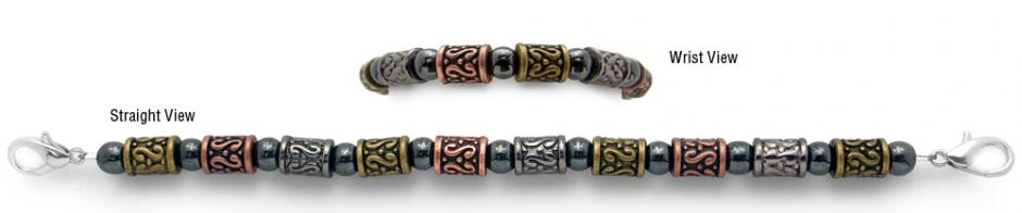 Designer Bead Medical Bracelets Tri-Color Tapa 1132