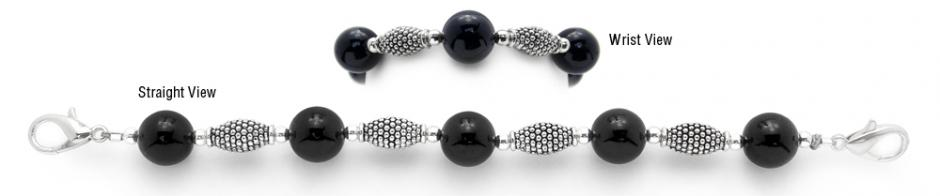 Designer Bead Medical Bracelets Black Knight 1163