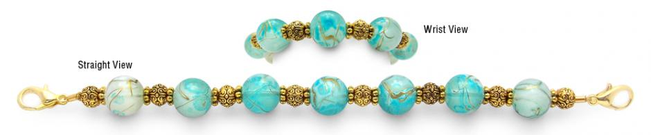 Designer Bead Medical Bracelets Shores of Atlantis 1179