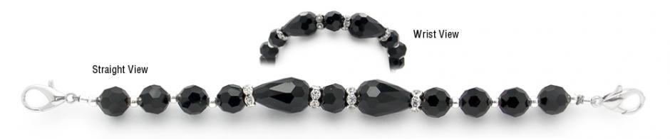 Designer Bead Medical Little Black Bracelet 12092