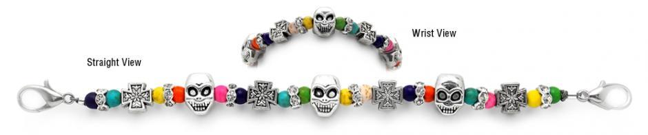 Designer Beaded Medical ID Bracelets Si Se Puede 1212