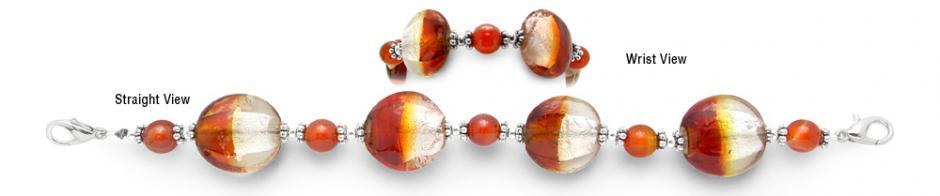 Designer Bead Medical Bracelet True Lava 1223