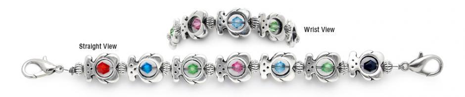 Designer Bead Medical Bracelets Bear Necessities 1224