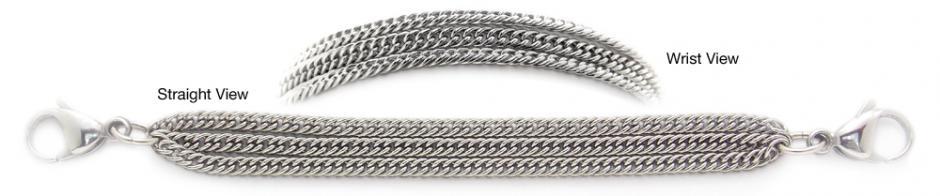 Designer Stainless Medical Bracelets Magnifico Delicato 1228
