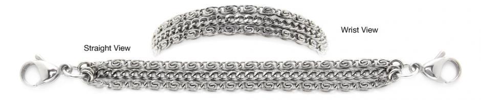 Designer Stainless Medical ID Bracelets Delizioso Delicato 1232