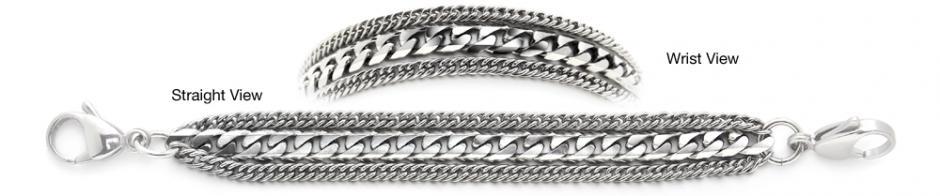 Designer Stainless Medical ID Bracelets Potente 1237