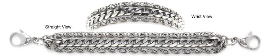 Designer Stainless Medical Bracelets Massimo 1239