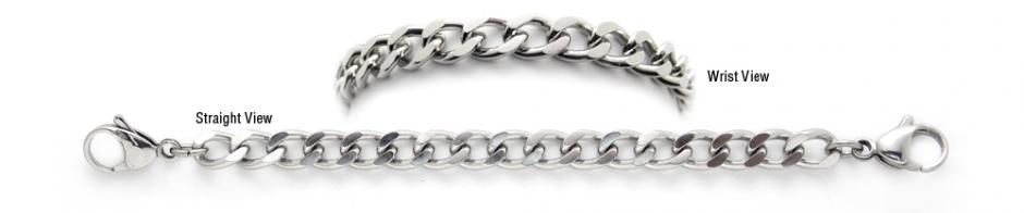 Designer Stainless Medical Bracelets Grande Stile Ancona 1253