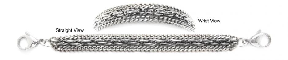 Designer Stainless Medical Bracelets Grazioso 1264