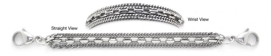 Designer Stainless Medical Bracelets Ricchezza 1266