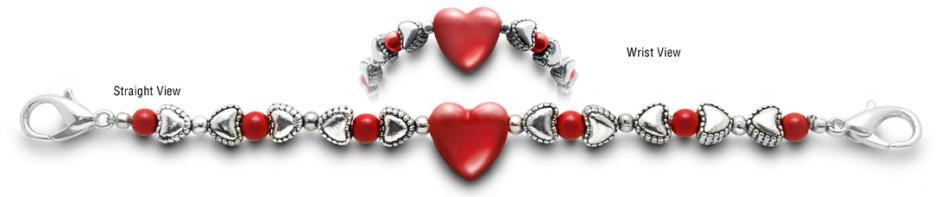 Designer Bead Medical Bracelets Hearts Content 1284