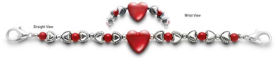 Designer Bead Medical Bracelets Hearts Content 1284