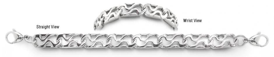 Designer Stainless Medical ID Bracelets Onde di Resistenza 1310