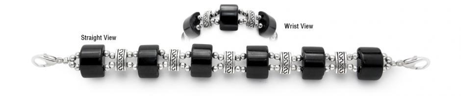 Designer Bead Medical Bracelets Cats Eye Mystique Black 1358