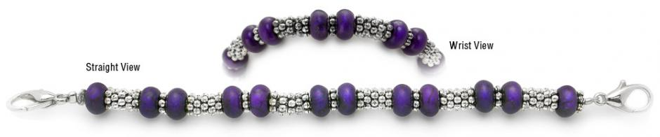 Designer Bead Medical Bracelets Purple Passion Lady 1374