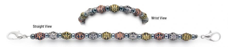 Designer Bead Medical Bracelets Metal Works 1409