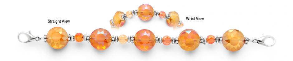Designer Bead Medical Bracelets Darling Clementine 1472