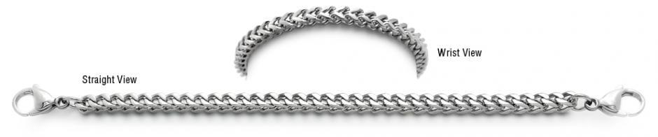 Designer Stainless Medical Bracelets Sottile Mistero Quadrato 1498