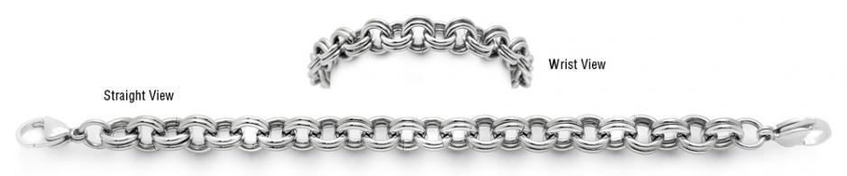 Designer Stainless Medical Bracelet Doppio il Forte 1500