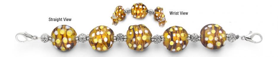 Designer Bead Medical Bracelets Queen Bee 1501