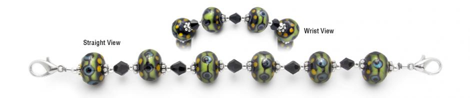 Designer Bead Medical Bracelets Rainforest 1503
