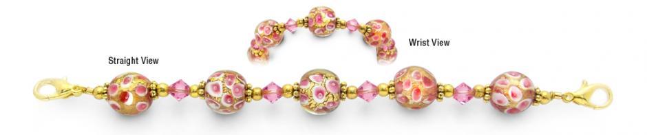 Designer Fashion Bead Medical ID Bracelets Blushing Radiance 1551