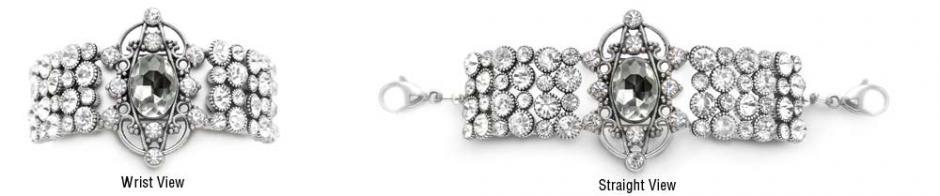 Designer Fashion Rhinestone Medical Bracelets Palace Gates-2 1566