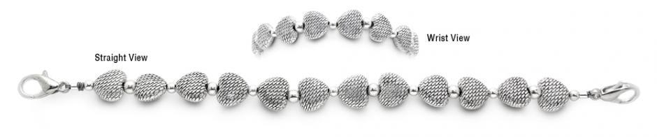 Designer Bead Medical Bracelets Hearts 1568