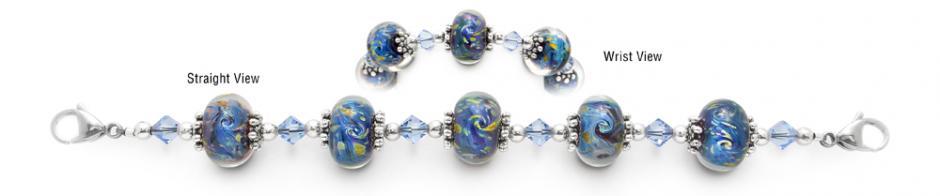 Designer Bead Medical Bracelets Starry Night 1570