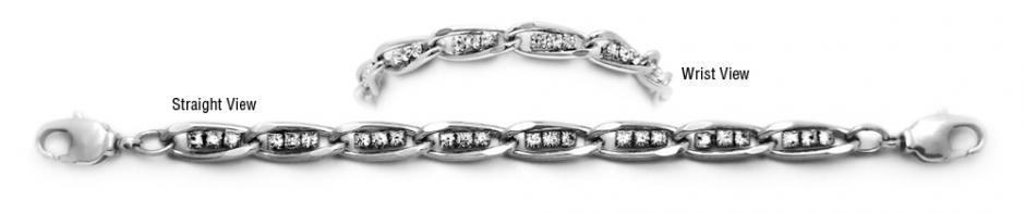 Designer Silver Diamond Medical Bracelets Tritalia 1594