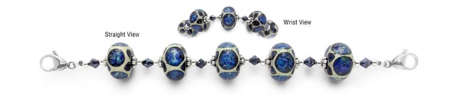 Designer Bead Medical Bracelets Ultramarine Webs 1619