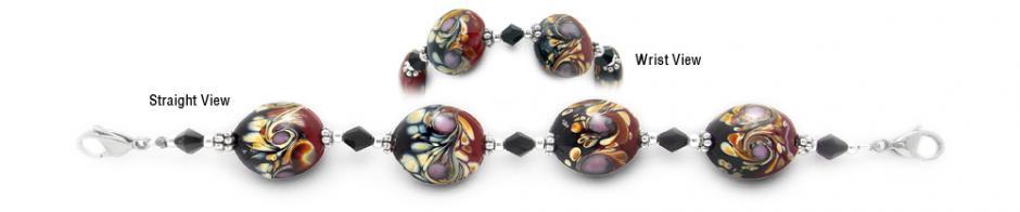 Designer Bead Medical Bracelets Flash of Color 1692
