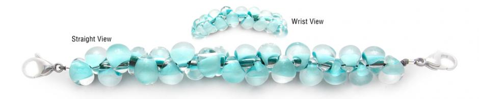 Designer Bead Medical Bracelets Dew Drops 1702