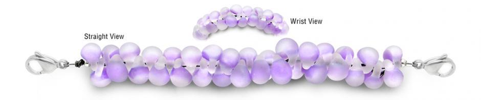 Designer Bead Medical Bracelets Violet Serpent Skies 1704