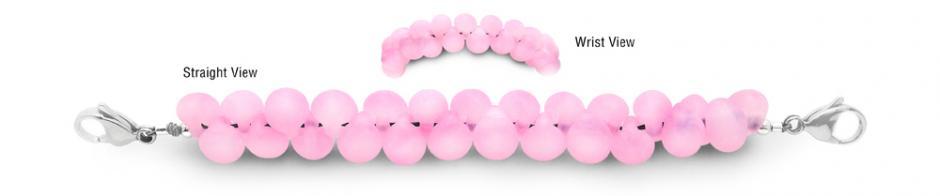 Designer Bead Medical Bracelets Pink Serpent Skies 1705