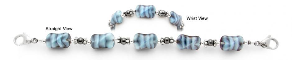 Designer Bead Medical Bracelets My Blue Zebra 1706